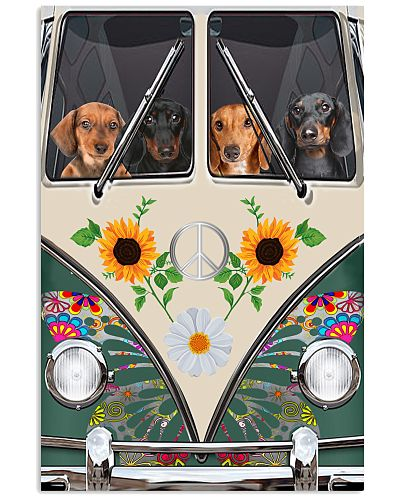 Dachshund Temp Dog Poster