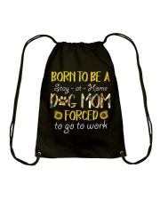 Born To Be A Dog Mom Drawstring Bag thumbnail