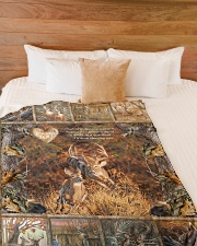 "Deer I Choose You Large Fleece Blanket - 60"" x 80"" aos-coral-fleece-blanket-60x80-lifestyle-front-02"