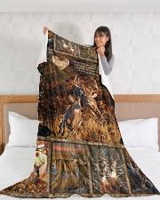 "Deer I Choose You Large Fleece Blanket - 60"" x 80"" aos-coral-fleece-blanket-60x80-lifestyle-front-11"