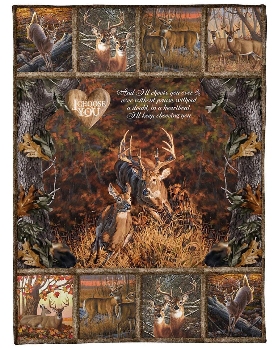 "Deer I Choose You Large Fleece Blanket - 60"" x 80"""