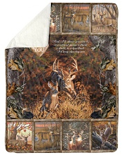 "Deer I Choose You Large Sherpa Fleece Blanket - 60"" x 80"" thumbnail"