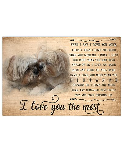 Shih Tzu I Love You The Most