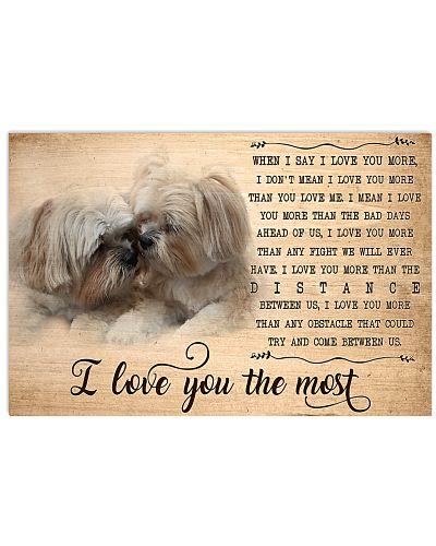 Shih Tzu I Love You The Most