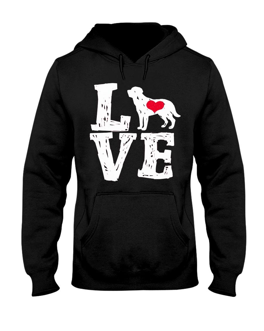 Labrador- Love Hooded Sweatshirt