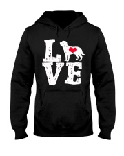 Labrador- Love Hooded Sweatshirt front
