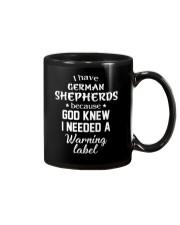 German Shepherd -Warming Label Mug front