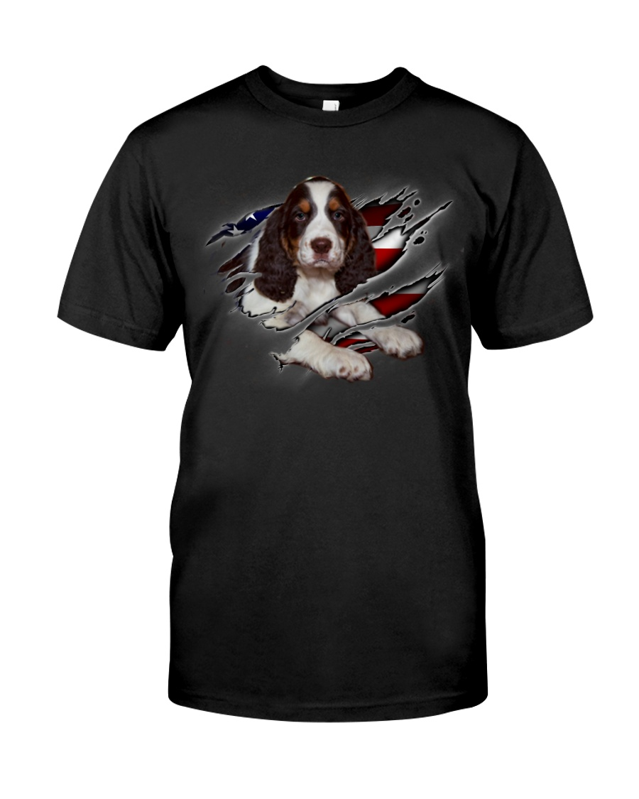 Springer Spaniel Inside Flag Classic T-Shirt
