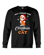 All I want for christmas is a cat Crewneck Sweatshirt thumbnail