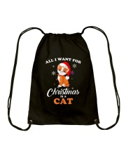 All I want for christmas is a cat Drawstring Bag thumbnail