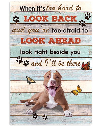 Pitbull When It's To Hard To Look Back Poster