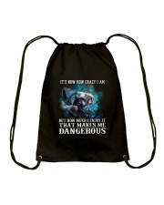 WOLF - It's now how crazy i am Drawstring Bag thumbnail