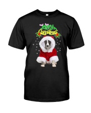 Whippet Merry Christmas  Classic T-Shirt front