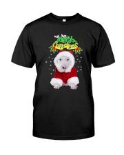 Bull Terrier Merry Xmas Classic T-Shirt front