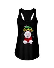Bull Terrier Merry Xmas Ladies Flowy Tank thumbnail