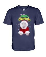 Bull Terrier Merry Xmas V-Neck T-Shirt thumbnail