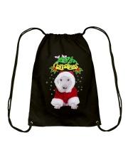 Bull Terrier Merry Xmas Drawstring Bag thumbnail