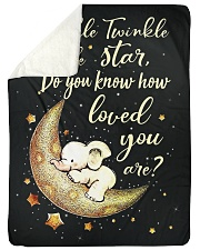 "Elephant Funny Twinkle Little Star Graphic Design Large Sherpa Fleece Blanket - 60"" x 80"" thumbnail"