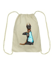 Doberman Pinschers I Love Mom Drawstring Bag thumbnail