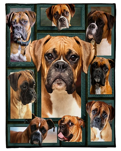 Boxer Funny Blanket Face Beauty Graphic Design