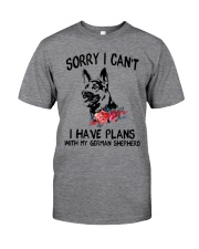 German Shepherd - Sorry I can't Classic T-Shirt front