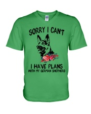 German Shepherd - Sorry I can't V-Neck T-Shirt thumbnail