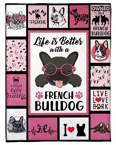 French Bulldog Funny Life Is Better Graphic Design