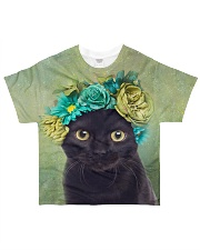 Cat Flower All-over T-Shirt front
