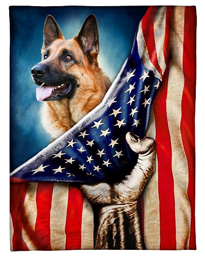 German Shepherd Funny Blanket Flag Graphic Design