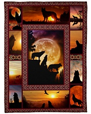 "Wolf Funny Blanket Sunset Graphic Design Large Fleece Blanket - 60"" x 80"" front"