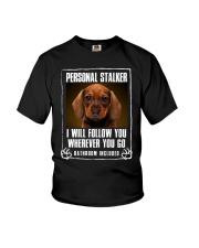 Dachshund Will Follow You Youth T-Shirt thumbnail