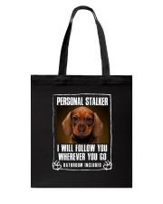 Dachshund Will Follow You Tote Bag thumbnail
