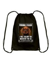 Dachshund Will Follow You Drawstring Bag thumbnail