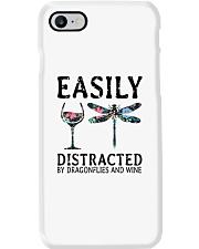 Easily Distracted By Dragonflies And Wine Phone Case thumbnail