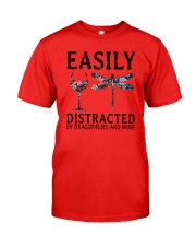 Easily Distracted By Dragonflies And Wine Classic T-Shirt front