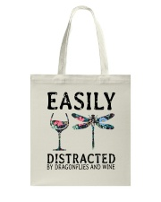 Easily Distracted By Dragonflies And Wine Tote Bag thumbnail