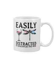 Easily Distracted By Dragonflies And Wine Mug thumbnail