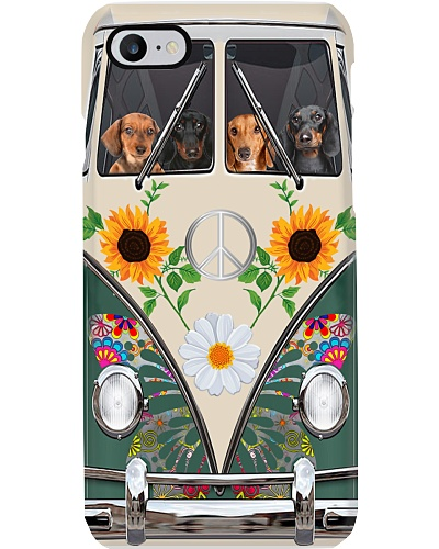 Dachshund Temp Dog Phone Case