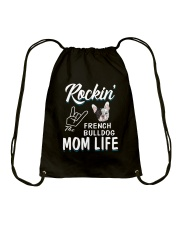 French Bulldog Mom Life Drawstring Bag thumbnail