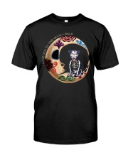 Jack Russell Day Of The Dead Moon Classic T-Shirt front