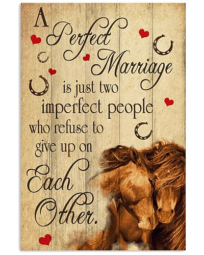 A Perfect Marriage Horse Poster