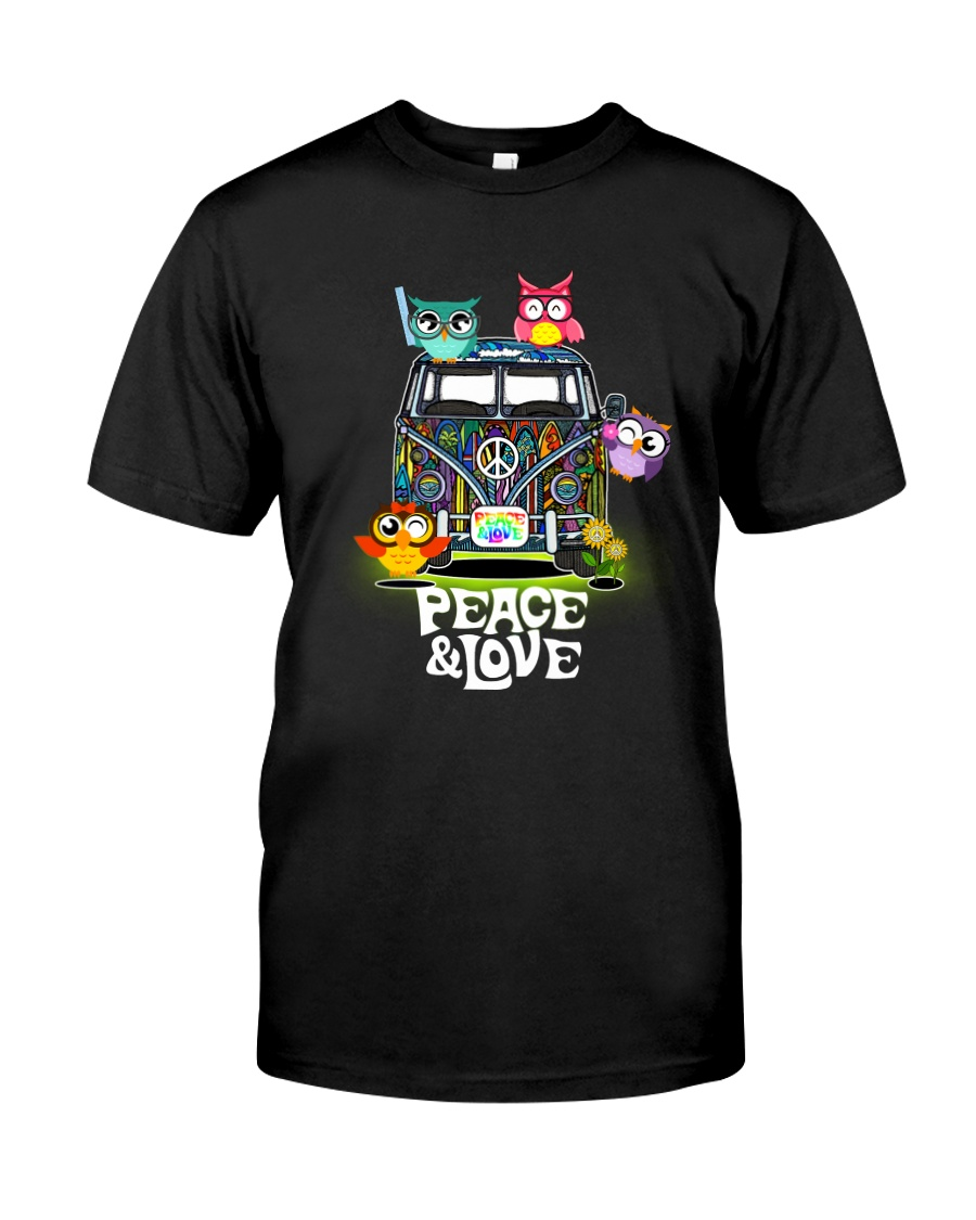 PEACE AND LOVE - OWL Classic T-Shirt