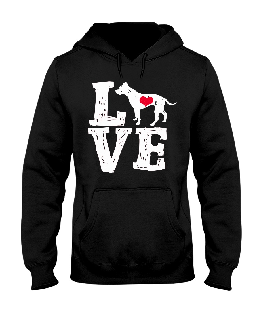 Pit Bull - Love Hooded Sweatshirt