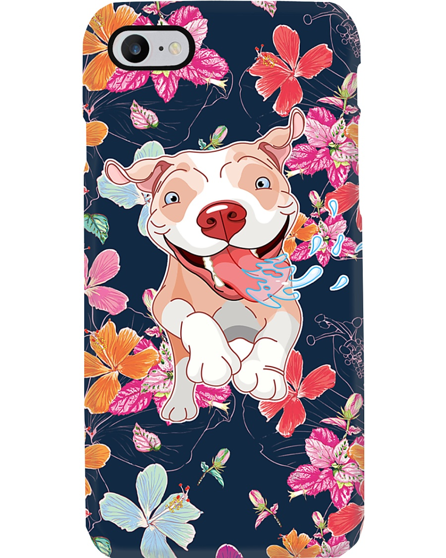 Pit Bull Happy Flower Phonecase Phone Case