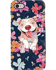 Pit Bull Happy Flower Phonecase Phone Case i-phone-7-case