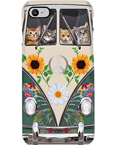 Cat Hippie Bus Phonecase