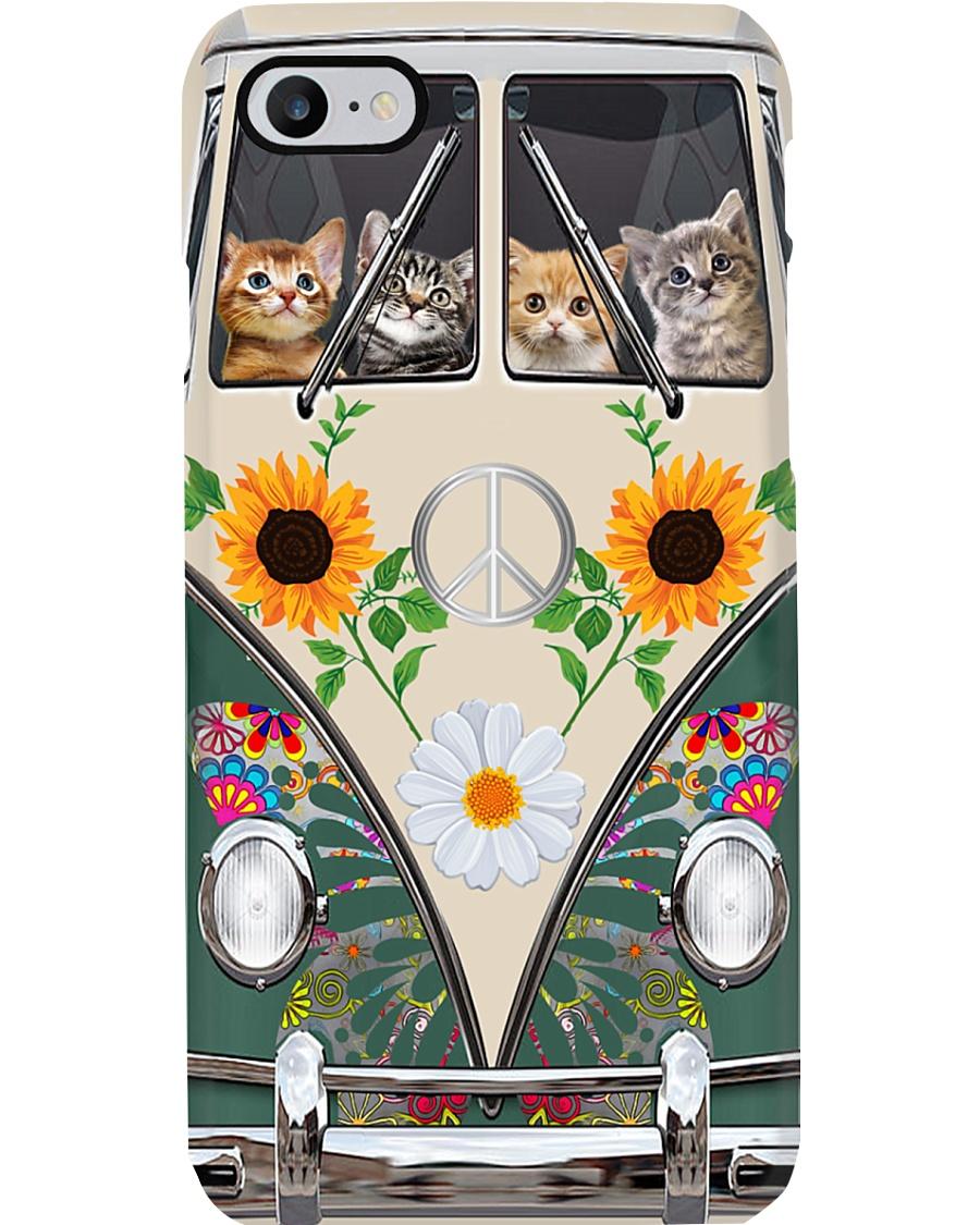 Cat Hippie Bus Phonecase Phone Case