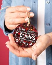 Dog Dear Santa Sorry For All The F-Bombs Circle ornament - single (porcelain) aos-circle-ornament-single-porcelain-lifestyles-01