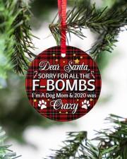 Dog Dear Santa Sorry For All The F-Bombs Circle ornament - single (porcelain) aos-circle-ornament-single-porcelain-lifestyles-07