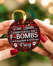 Dog Dear Santa Sorry For All The F-Bombs Circle ornament - single (porcelain) aos-circle-ornament-single-porcelain-lifestyles-08